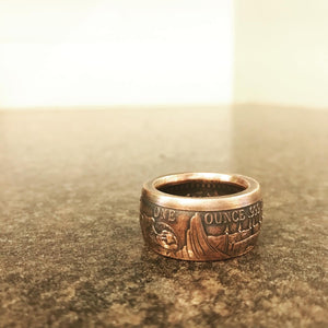 Remember the Alamo copper ring.