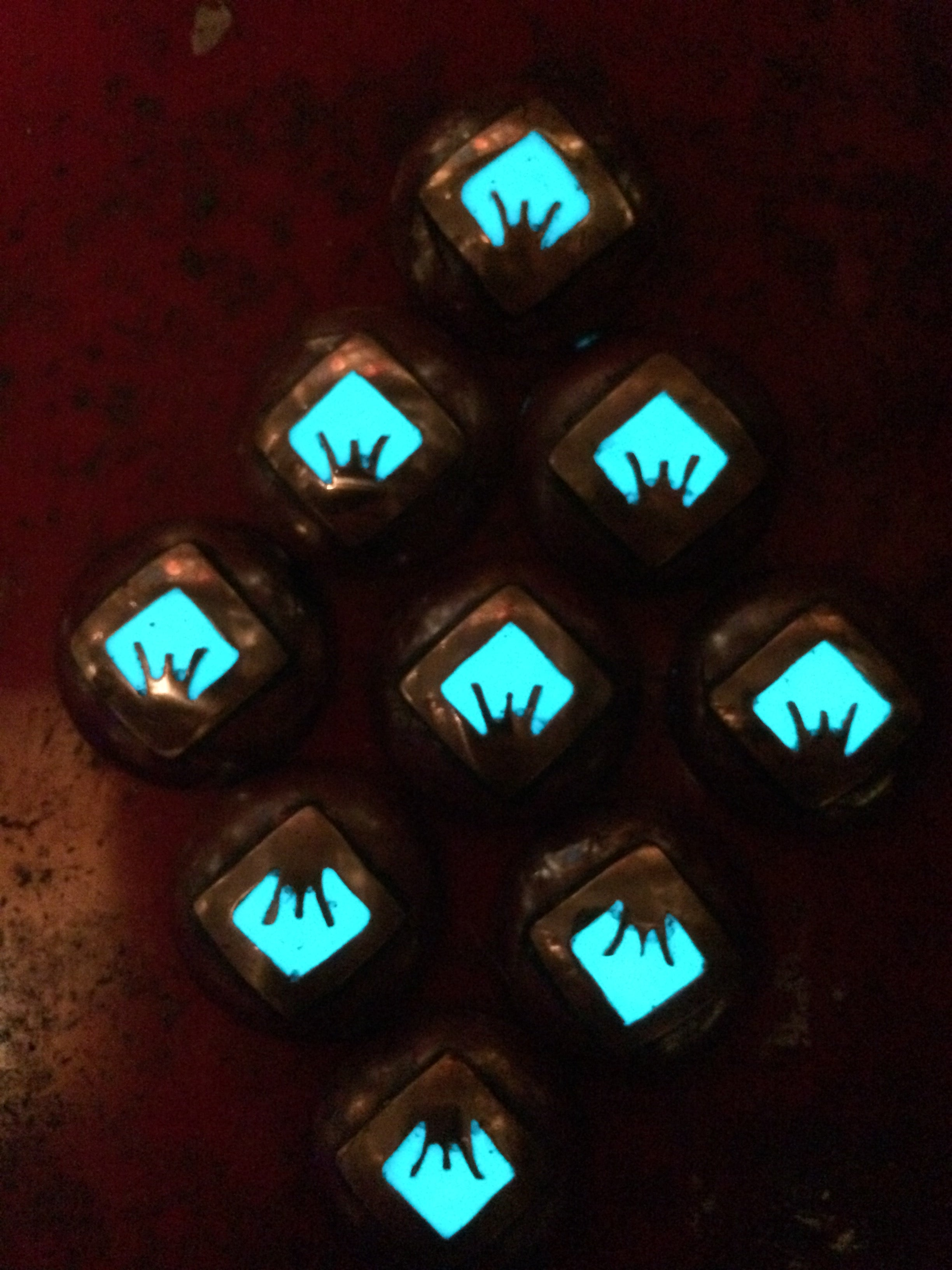 Iron sight ranger eye morale patches glowing in the dark