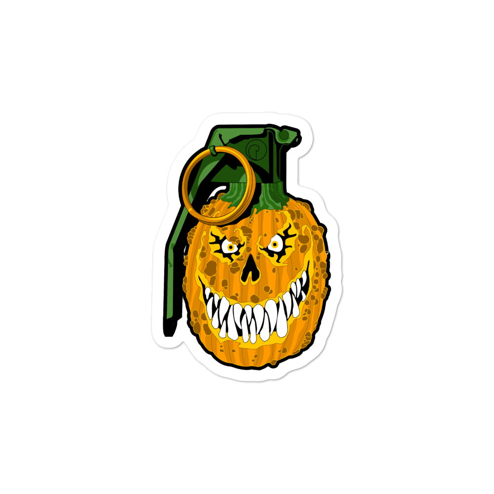 Jack-o-lantern Bubble-free stickers