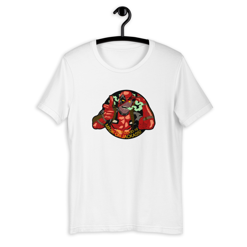 Dead Pool Mask On Short-Sleeve Unisex T-Shirt