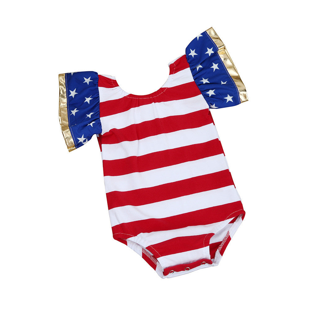 75827a85e14e Summer Baby Girls Rompers Stripe Sleeveless Newborn Romper Splice Girl Boy Baby  Jumpsuit Print Clothes Outfit ...