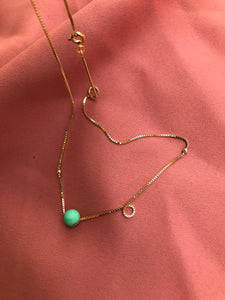 Moon necklace - Chrysopras
