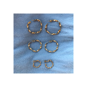 Flat twisted hoops - Medium