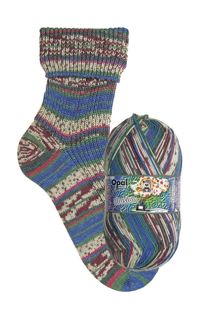 Illusion Yarn Sock Yarn (1 - Super Fine) by Opal
