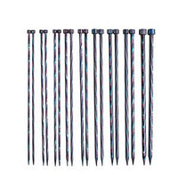 "KNIT PICKS Rainbow Wood Single Point Knitting Needles 25cm (10"")"