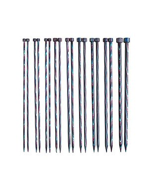 KNIT PICKS Rainbow Wood Single Point Knitting Needles 25cm (10