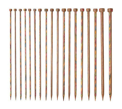KNIT PICKS Rainbow Wood Single Point 18 Pc. Knitting Needle Set 25cm (10