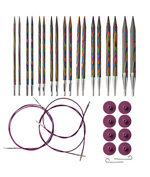 KNIT PICKS Rainbow Wood Interchangeable Circular Needle Set