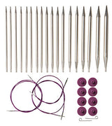 KNIT PICKS Nickel Plated Interchangeable Circular Needle Set