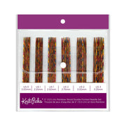 "KNIT PICKS Rainbow Wood Double Point Knitting Needle Set 12cm (5"")"