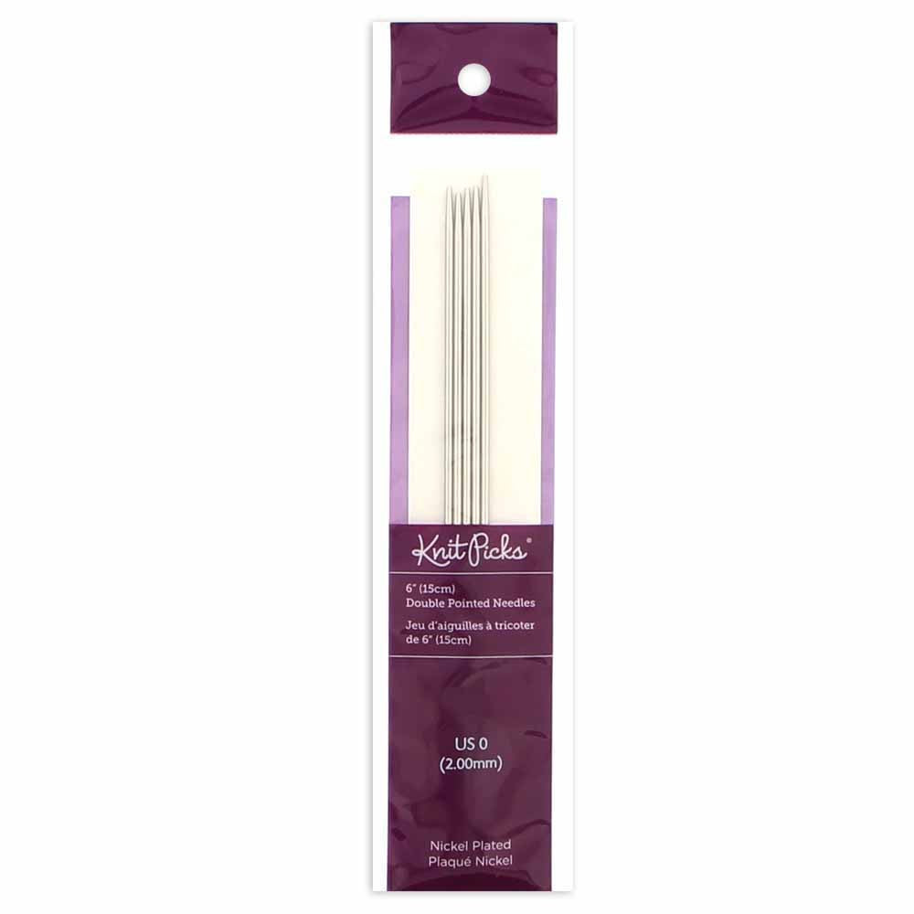 "KNIT PICKS Nickel Plated Double Point Knitting Needles 15cm (6"")"