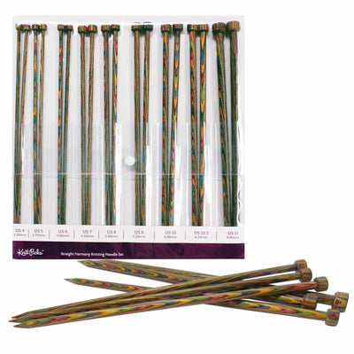 KNIT PICKS Rainbow Wood Single Point 18 Pc. Knitting Needle Set 35cm (14