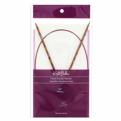 KNIT PICKS Rainbow Wood Circular Knitting Needles  60cm (24