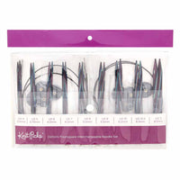 "KNIT PICKS Options Foursquare Majestic Wood Interchangeable Circular Needle Set  12cm (5"")"