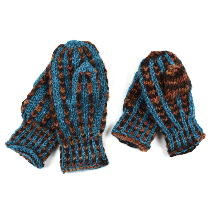 """Mommy and Me"" Mittens Set - Hand Maiden Fine Yarn"