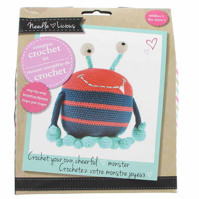 NEEDLE LICIOUS Complete Crochet DIY Kit - Monster
