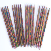 "KNIT PICKS Rainbow Wood Double Point Knitting Needles 20cm (8"")"