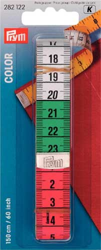 282122 - Prym Coloured Tape Measure with cm and Inch Scale 150 cm (60 inches)