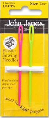 John James Plastic Sewing Needles Kids 2.75""