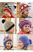 Hats Pattern by King Cole (3700)