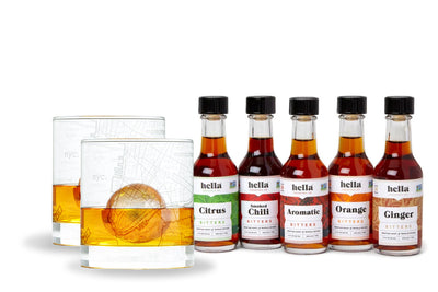 City Rocks and Bitters Gift Set