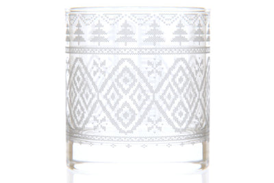 Pine Tree Sweater Rocks Glass