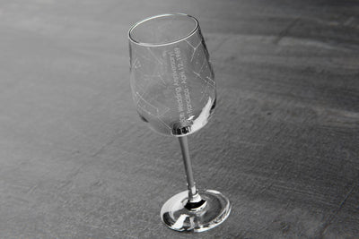 Custom Constellation Stemmed Wine Glass