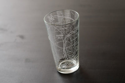 Austin 26.2 - Marathon Map Pint Glass