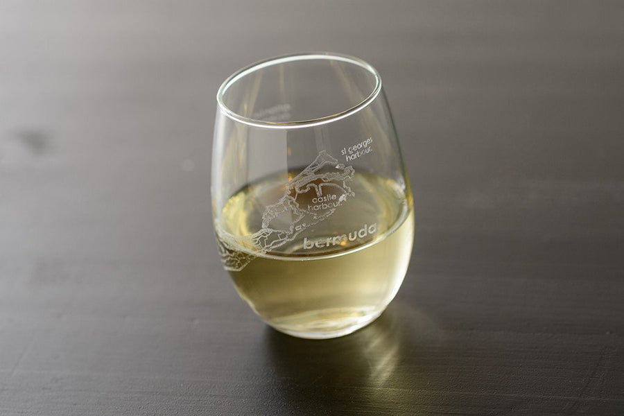Bermuda Island Stemless Wine Glass