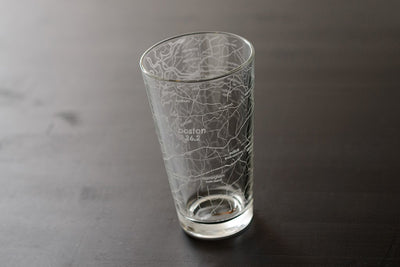 Boston 26.2 - Marathon Map Pint Glass
