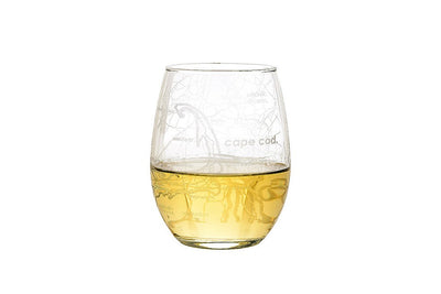 Cape Cod Map Stemless Wine Glass
