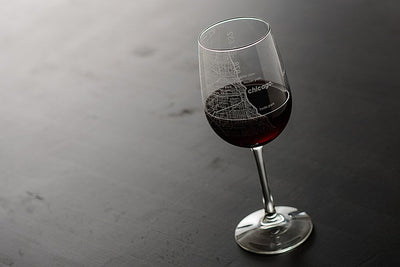 Chicago Maps Wine Glass