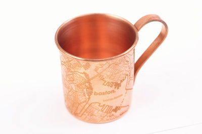 Copper Mug - Boston Map