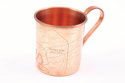 Copper Mug - Moscow Map