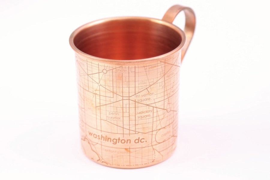 Copper Mug - Washington DC Map