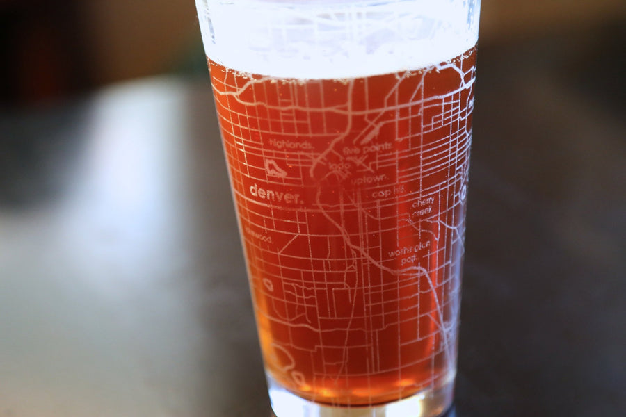 Denver Map Pint Glass