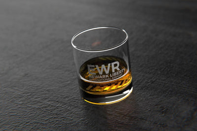 EWR Newark/New York - Airports and Runways Rocks Glass