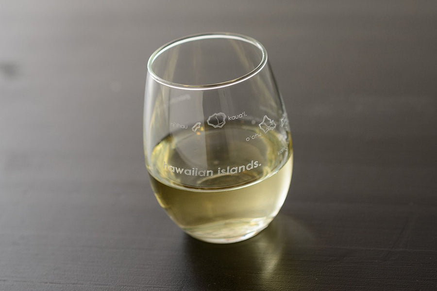 Hawaiian Islands Stemless Wine Glass