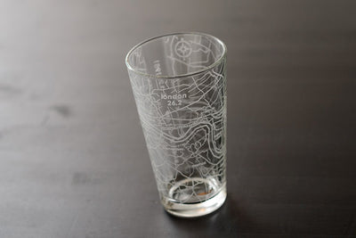 London 26.2 - Marathon Map Pint Glass