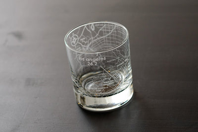 Los Angeles 26.2 - Marathon Map Rocks Glass