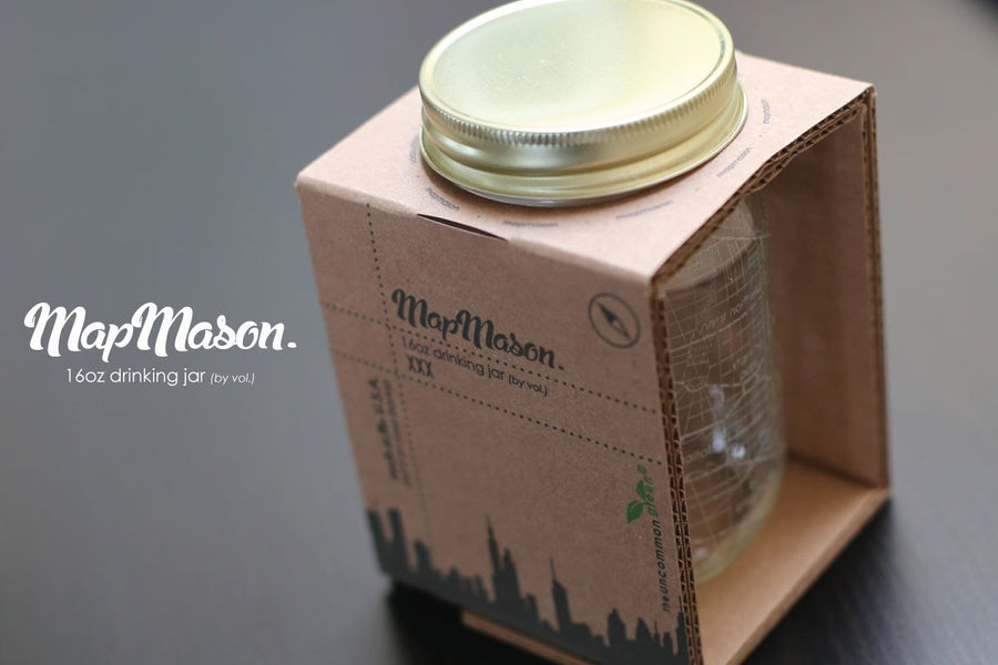NYC Map Mason Jar