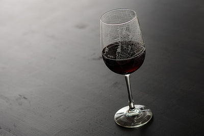 NYC Maps Wine Glass