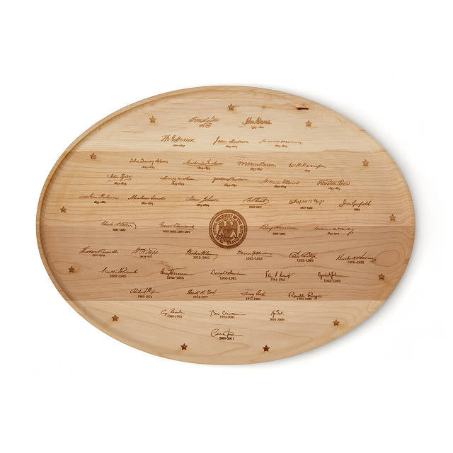 Retired Presidential Signatures Platter