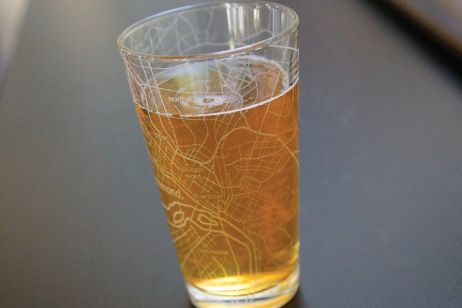 Richmond Map Pint Glass