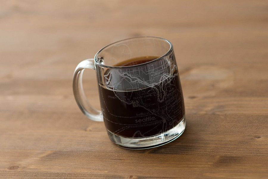 Seattle Street Map Coffee Mug