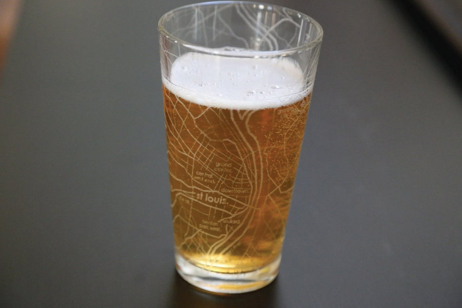St. Louis Map Pint Glass