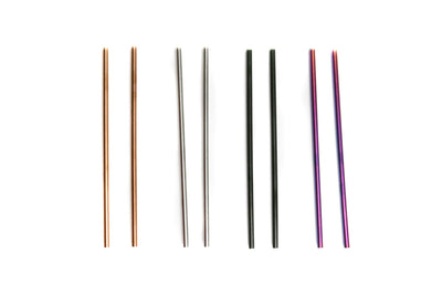 "6.5"" Stainless Steel Drinking Straws - Set of 2"