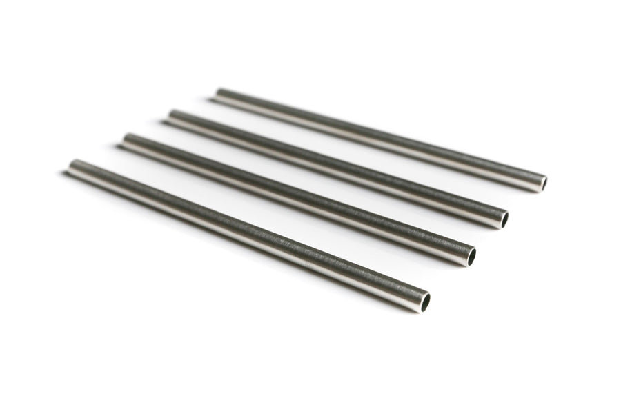 "5"" Stainless Steel Cocktail Straws - set of 4"
