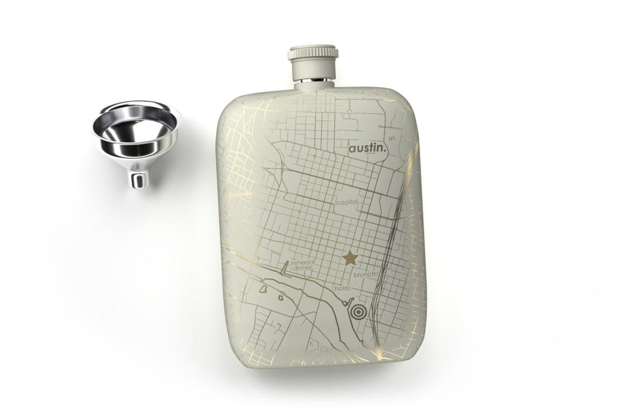 Anywhere Maps Pocket Flask