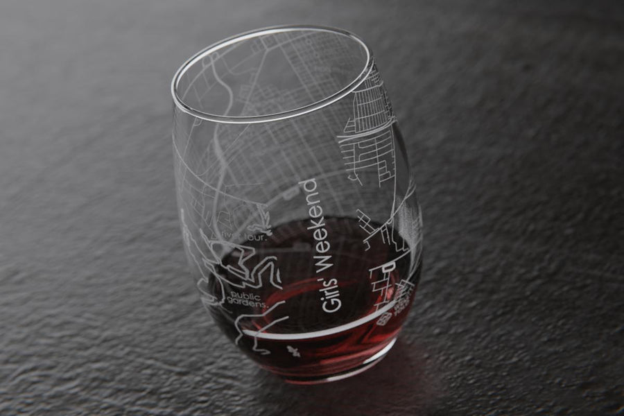 Anywhere Maps Stemless Wine Glass